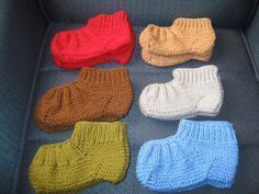 Blog By Day: Sapato de tricô para adulto