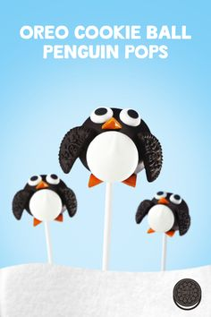 Get in the winter mood with these adorable OREO Cookie Ball Penguin Pops. Rich and creamy... And on a stick!