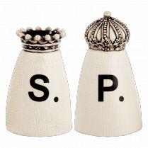 Crown Salt & Pepper Shakers