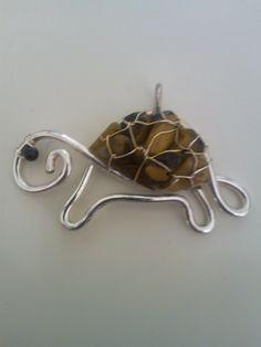 черепаха подвеска проволока / wire pendant turtle
