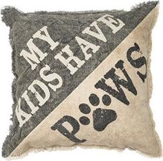 Buy Primitives By Kathy Pillow 'My Kids Have Paws' by Bedding6