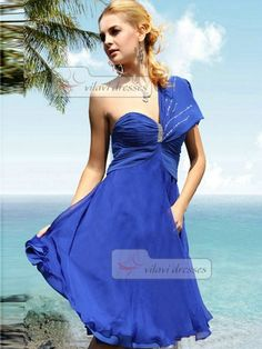 A-line Chiffon Cocktail Dress One shoulder Knee-length Fantastic Homecoming Dresses