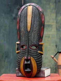 Akan Beauty Ghanaian Wood Mask by NOVICA
