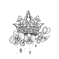 Davaena - Lilly is Love Smal Tattoo, Small Crown Tattoo, Crown Tattoo Design, Queen Crown Tattoo, Princess Crown Tattoos, King Queen Tattoo, Rosen Tattoo Klein, Body Art Tattoos, Sleeve Tattoos