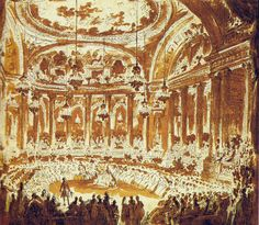 Ball for the marriage of the dauphin and Marie Antoinette, at the opera of Versailles, May 19th, 1770.