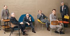 George Nelson, Edward Wormley, Eero Saarinen, Harry Bertoia, Charles Eames and Jens Risom #designgods