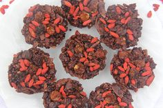 8-Ingredient Chewy Berry Chocolate Crackle #healthy #vegan #chocolate #berry #recipe #dairyfree #sugarfree #glutenfree #begoodorganics