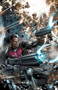 Deathlok - Henry Hayes; Via mind-control, he became a Deathlok, acting as assassin, soldier, killer, fighter & operative. participated to at least an armed conflict alongside with organized troops, assassinating countless people. He was even once close to be captured by S.H.I.E.L.D., during a mission turned bad in Russia. Hayes being an Afro-American Deathlok controlled at distance is inspired by Michael Peterson from Marvel's Agents of S.H.I.E.L.D., as well his appearance.