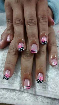 26 Ideas French Pedicure Designs Toenails Polka Dots For 2019 Pedicure Nail Art, Pedicure Colors, Manicure E Pedicure, Toe Nail Art, Pedicure Ideas, Pedicures, Nail Ideas, Fingernail Designs, Toe Nail Designs