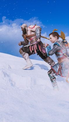 Atreus: Race you to the top, father!very well. God Of War Game, Kratos God Of War, Gamer Tags, Best Gaming Wallpapers, Comic Art, Comic Book, Game Concept Art, Batman Vs Superman, Fantasy Warrior