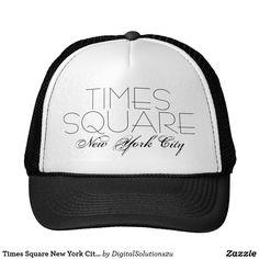 1bb78fb00c6 Times Square New York City customizable Trucker Hat Blue Design
