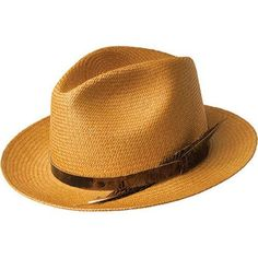 This classic Coe Fedora was woven and dyed in Ecudaor and blocked and trimmed in the U.S.A. This hat is made of 100% Panama Quenca Straw and features a natural distressed leather band. Removable Feath