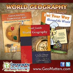 @geomatters 1 winner will receive Trail Guide to World Geography, Geography Through Art, and Eat Your Way Around the World. #backtohomeschool #giveaway #wednesday