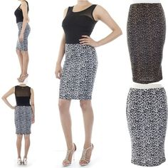 ebclo - Animal Print Pencil Skirt  $14.00 Free Domestic Shipping