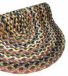 Blue/Mauve Beacon Hill Cloth Braided Rug