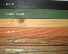 Specialty Wood Products - Colors