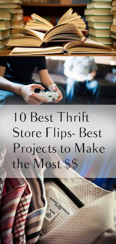 10 Best Thrift Store Flips- Best Projects to Make the Most $$. DIY, DIY clothing, sewing patterns, quick crafting, tutorials, DIY tutorials.