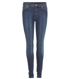 THE PINTUCK SKINNY JEANS 7 FOR ALL MANKIND
