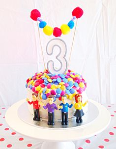 The Wiggles 3rd Birthday Cake. Designed and Made by Melissa Mann. Instagram @thelittlemanncave