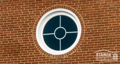 White Circle Window With A Unique, Custom Grid. #homedesign #homeimprovement