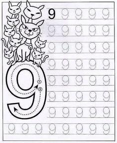 New System-Suitable Numbers Line Study - Preschool Children Akctivitiys Preschool Writing, Numbers Preschool, Learning Numbers, Preschool Curriculum, Math Numbers, Preschool Printables, Preschool Lessons, Preschool Learning, Kindergarten Worksheets