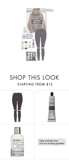 """bigger than this // 12.52 pm"" by cathxwut ❤ liked on Polyvore featuring Topshop, Aesop and Le Labo"