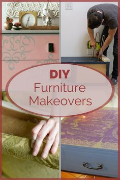 """Almost any worn out table, chair or dresser can be made into something new. A furniture repurposing project will let you custom design a """"new"""" piece, just for your space. These DIY furniture updates will wow you, and inspire some ideas for your own furniture makeover designs."""