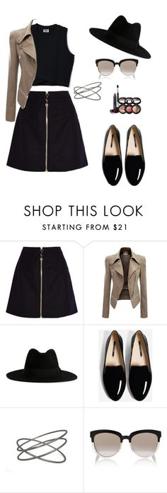 """""""Geometry"""" by luanaalvess ❤ liked on Polyvore featuring Acne Studios, Yves Saint Laurent, Christian Dior and Laura Geller"""