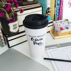 What Would Olivia Pope Do-Scandal travel coffee mug by effiespaper
