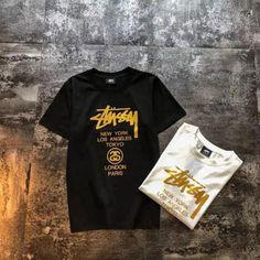 7fa5f8bdc319 ステューシー Tシャツ プリント Stussy Tシャツ メンズ レディース ペアルック カップル お揃 い 半袖 ティーシャツ カジュアル