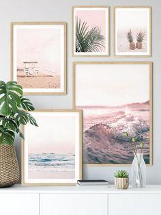 Set of 5 Tropical Beach Pastel Printable Art Nature Print Nature Prints, Art Nature, Tv Wand, Target Home Decor, Beach Print, Picture Wall, Wall Prints, Printable Art, Scandinavian