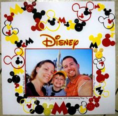 My family at Disney World this May for our wedding anniversary This is a lift of s trip to Magic Kingdom LO I used lots of different sized Mickey heads and Shilouettes from the Mickey Font cricut cart and buttons too Album Scrapbook, Vacation Scrapbook, Disney Scrapbook Pages, Scrapbook Layout Sketches, Scrapbook Designs, Scrapbook Paper Crafts, Scrapbooking Layouts, Disney Crafts, Disney Fun