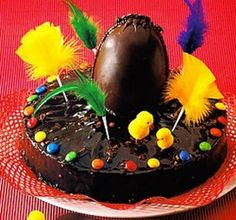 "Pastel de chocolate para ""Mona de pascua"""