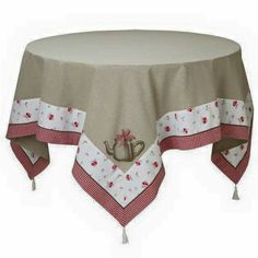 ideas for kitchen table cloth ideas tablecloths Kitchen Tablecloths, Burlap Table Runners, Linen Bedroom, Rico Design, Round Tablecloth, Deco Table, Mug Rugs, Table Toppers, Chair Covers