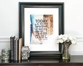 Tomorrow A Wife, Forever Your Little Girl, Father of the Bride Gift, Photo Quote Art, Dad Quote // Art Print or Canvas // W-Q06-1PS QQ5