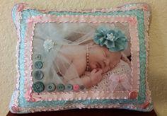Custom Handmade  Photo Pillow: Sweet Baby by DesertMoonQuiltCo