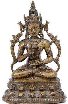 14th-c-tibet-amoghasiddhi-bronzec-inlay-265-cm-mossgreen.jpg (271×415) 13th-14th c., Tibet, buddha Vairocana, copper alloy with copper, silver and stone inlay, pigmen