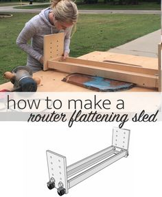 Flatten slabs with a router Router Sled, Diy Router, Using A Router, Woodworking Tutorials, Woodworking Skills, Diy House Projects, Furniture Projects, Tools And Toys, Tree Slices