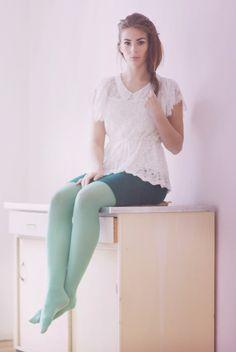 https://flic.kr/p/tg32HE | Nadine Drexler in tights | How to style tights by Nadine Drexler