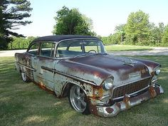Chevrolet: Bel Air/150/210 1955 chevy bel air rat rod barn find patina original
