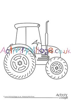 This simple bold tractor colouring page is good for younger children. Personally I like to see red tractors! Tractor Coloring Pages, Colouring Pages, Tractor Crafts, Tractors For Kids, Activities For Kids, Crafts For Kids, Red Tractor, Busy Book, Yard Art