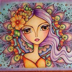 69 New Ideas for drawing ideas mermaid faces Art And Illustration, Arte Pop, Naive Art, Whimsical Art, Mandala Art, Doodle Art, Cute Art, Folk Art, Art Drawings
