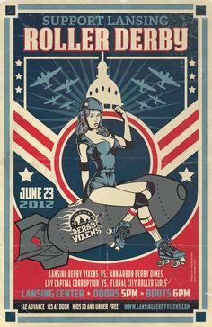 Vixens roller derby poster