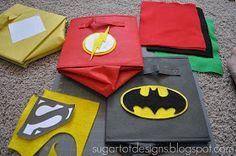 Superhero Bins {Tutorial and #Printable}