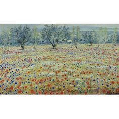 Michele Cascella - FIELD OF POPPIES, oil on canvas