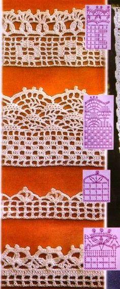 Hobby lavori femminili - ricamo - uncinetto - maglia: bordure uncinetto