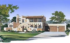 11 best Adobe House Plans images on Pinterest   House floor plans     Eplans Adobe House Plan   Mission Statement   2739 Square Feet and 4  Bedrooms from Eplans   House Plan Code