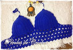 * Pérolas do Crochet: Cropped/Top em croche