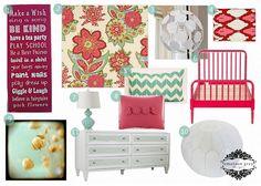 Raspberry Swirl Big Girl Room