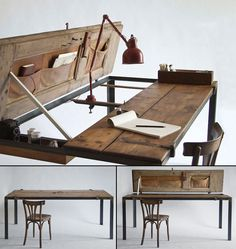 Converted Antique Door To Writing Desk & Dining Table